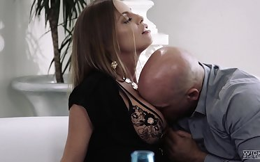 Horny MILF Britney Amber bends over as mindless is pleasant as doggy fuck
