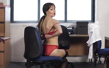 That sexy secretary lives a double life and she is twosome helluva stripper