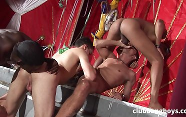 Insane male orgy for the twinks with tight butt holes