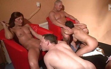 Regular inexpert people enjoying some meticulous orgy and having tons of recreation