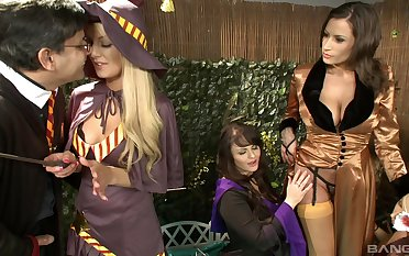 Order about women share dick and fulfill their fantasies in aberrant play