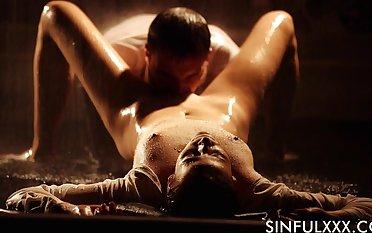 Erotic cherish synod under the rain with humble tits Ria Sunn