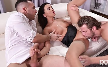 MMF Colleagues Get Kinky - Alyssia Kent threesome sex