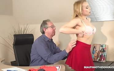 Older guy seduced by his younger sob sister Rebecca Sinister for sex
