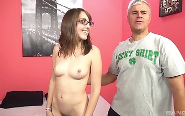 Without mercy fucking close by skinny brunette Nickey Huntswoman