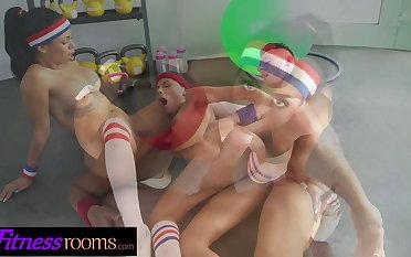 Fitness Rooms POV transcribe blowjob with Latina Baby Nicols