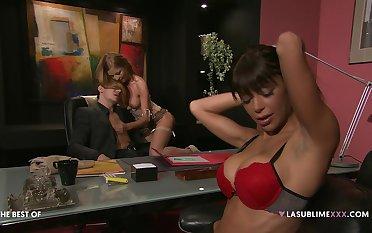 Hardcore threesome with pornstars Elena Grimaldi added to Lily Love