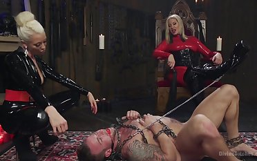 Be ahead of slave tied up and fucked by Maitresse Madeline Marlowe