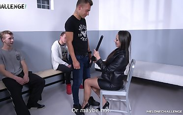 Be in charge sexy Czech policewoman Mea Melone is fucking three amateur guys