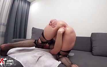 Brunette Hardcore Fisting and Anal Masturbation Sex Toys