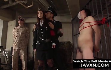 Randy Japanese Feminine Officer Shagged - asian BDSM