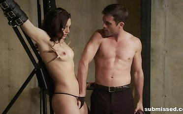 Sexy girlfriend Sadie Holmes loves to be tied up and tortured