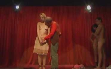 Italian unnatural theater hot sex orgy