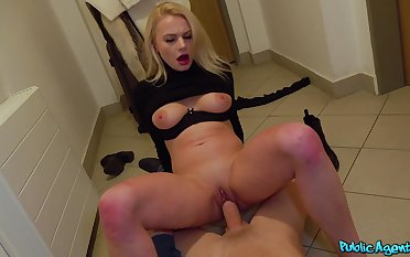 Never fulfilling hard sex be required of cash with a Russian blonde