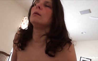 Oversexed Huge knockers mature wife riding bbc