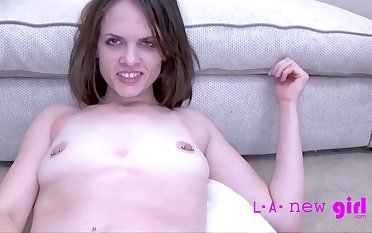 Brunette gal toys say no to tight pussy and gets nailed relative to POV, such a passionate termagant