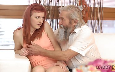 Emotional redhead Vanessa loves the way dudes fingerfuck say no to wet pussy