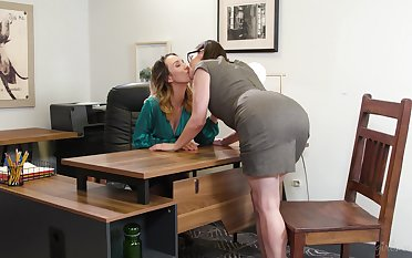 Two fucking hot lesbians Jade Nile and Sovereign Syre are making love on the provisions