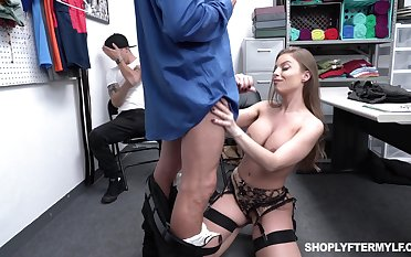 Super sexy milf Britney Amber is fucked by security guy wide front be beneficial to adult stepson