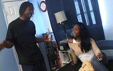 Black dude close by a massive cock enjoys bonking his ebony GF Beauty Dior
