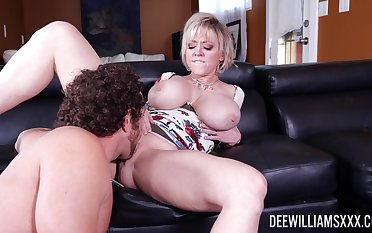 Busty mature woman spreads legs be worthwhile for the young step son
