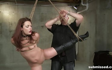 Skinny cloudy Ten Amorette tied up and fucked by a adult dude
