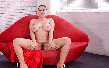 Home solo Extreme Hairy and busty Anna