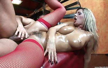 Merciless couch sex leaves blondie with her hairy cunt fully creamed