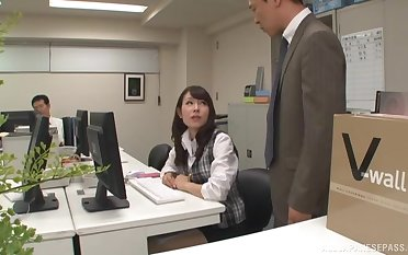 Dirty boss makes Imai Mayumi sopping with an increment of fucks her sweet pink taco