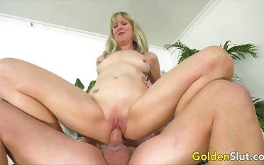 Golden Slut - Hopeless Granny Meets a Hung Stud Compilation