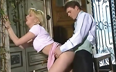 Forsome pound, cougars in pantyhose and double penetration romp in antique porno flick